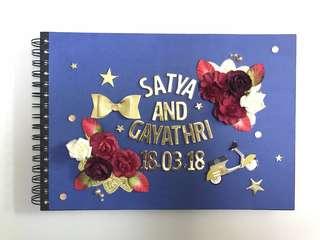 Customised wedding guestbook