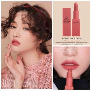 3CE Mood Recipe Lipstick - Mellow Flower #221 [Authentic]