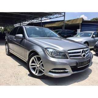 2013 Mercedes Benz C250 1.8 (A) FUL SERVICE RECORD
