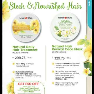human nature hair treatment and mask