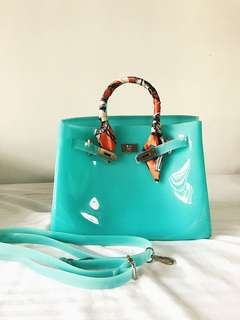 Beachkin Birkin Bag Teal Color