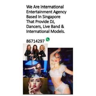 DJ, Dancers, Live Band & International Models