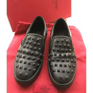 Valentino Garavani   Leather 'Rockstud' Slip-on Sneakers Shoes   ##Made in Italy   #Size 36-1/2 .
