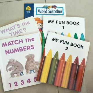 children's activity books clearance (word search, time, colouring)