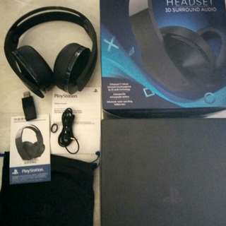 SONY PS4 Platinum wireless headset (3D surround audio)
