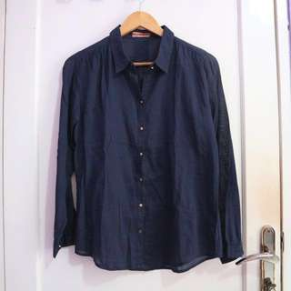 Navy Long Shirt