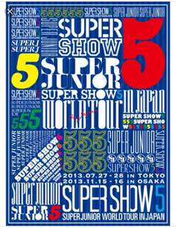 Super Junior Super Show 5 in Japan SS5 日版 DVD (99% 新)
