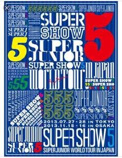 Super Junior Super Show 5 in Japan SS5 日版 DVD (99% 新)