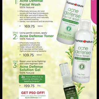 Human nature acne defence face care