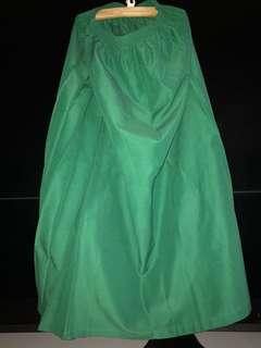 Long Skirt school green