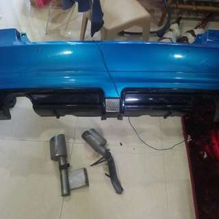 Rear bumper mugen RR civic fd