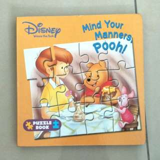 children's puzzle book manners ages 3 + (disney winnie the pooh)