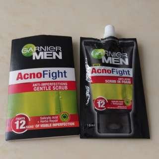 Garner Men AcnoFight scrub 㵖膚洗臉