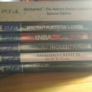 PS4 Video Games + Special Edition Steelbook Cover