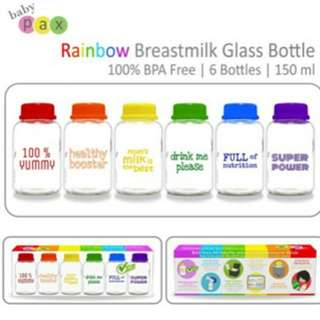 Baby Pax Rainbow Glass Bottle