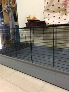 Cat cage (big cage with small upper level . Best for the cat's family.