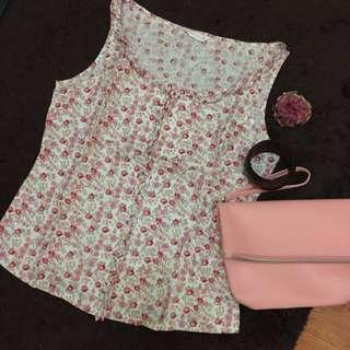 Reprice Pink Flower Top