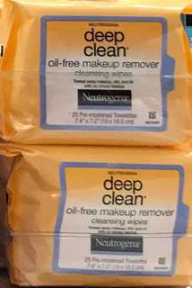 Neutrogena Deep Clean Oil-Free Makeup Remover Cleansing Wipes 25s
