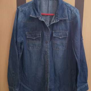 Kemeja jeans Point One