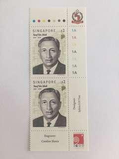 Singapore 1999 Yusof Bin Ishak mnh in pair