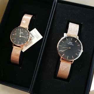 DW Couple Watch 32mm & 28mm Melrose Black Face