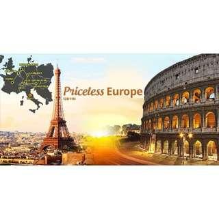Priceless Europe 12D11N