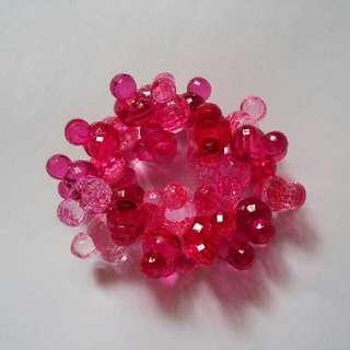 米奇頭形水晶手鏈,多種顏色配搭