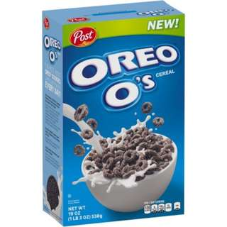 NEW Oreo O's Cereal 19oz (1LB 30z) 538g (ONLY 1 AVAILABLE)