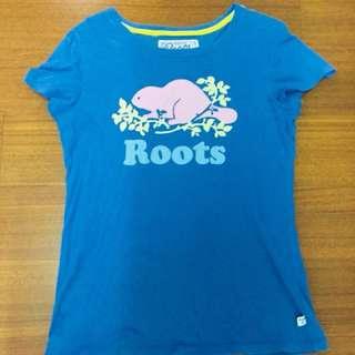 Roots 女生短袖上衣