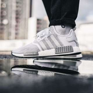 new concept 79035 2d4a1 ... Adidas NMD R1 White Grey Blizzard ...