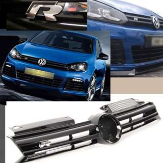 Volkswagen Golf mk6 Golf R style black chrome grille