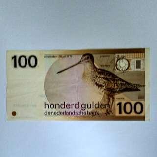 1977 Netherlands 100 gulden