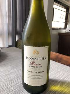 White wine Jacob creek Chardonnay 2016