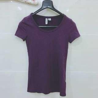 H&M Jersey Top (Violet) #Bajet20