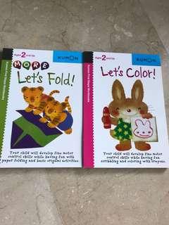 Kumon toddler activity books