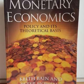 Monetary Economics by Keith Bain and Peter Howells 1st edition paperback