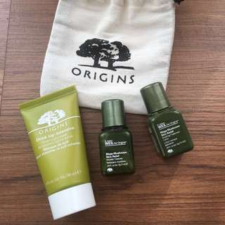 Origins Travel Set : Overnight Mask, Micellar Water & Treatment Lotion