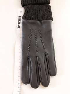 For more photos : Beams 男裝 啡色羊皮手套 gloves leather brown