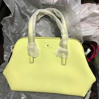 Kate Spade Cedar Street Maise in lemon yellow colour