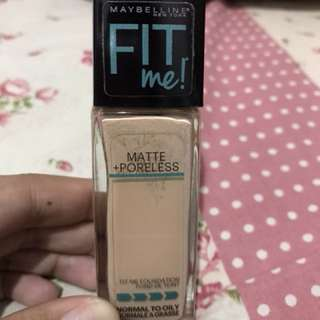 No Nego Please-Maybelline Fit Me Foundation Matte Poreless