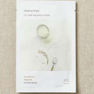 INNISFREE My Real Squeeze Mask  Rice