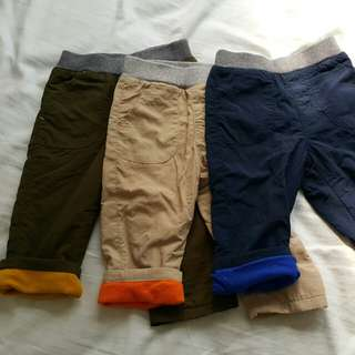 Uniqlo Warm Lined Pants - Toddler 80cm