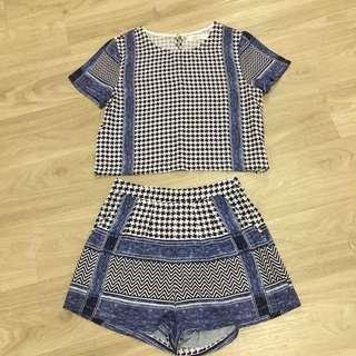Checkers Shorts Set