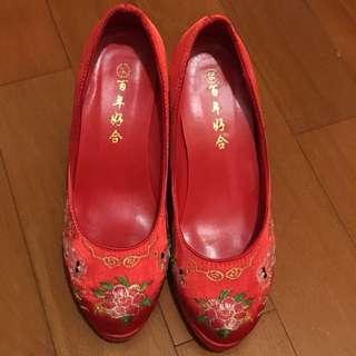 9cm高龍鳳褂鞋36碼