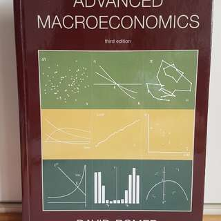 Ec3361 labor economics books stationery textbooks on carousell advanced macroeconomics by romer 3rd edition hardcover fandeluxe