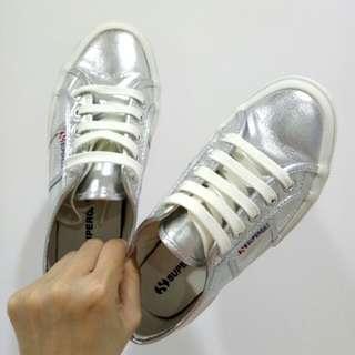 SUPERGA 義大利時尚帆布鞋 / 金屬亮面款/ 36