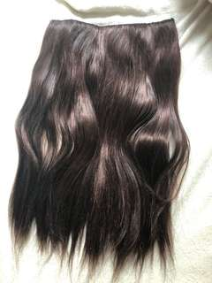 Cherry red brown straight hair extensions