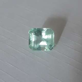 Natural Colombian Emerald. Very nice clear green.