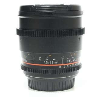 Samyang 85mm T1.5 AS IF UMC VDSLR Cine Lens (Canon Mount)