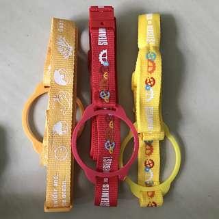 Water bottle straps